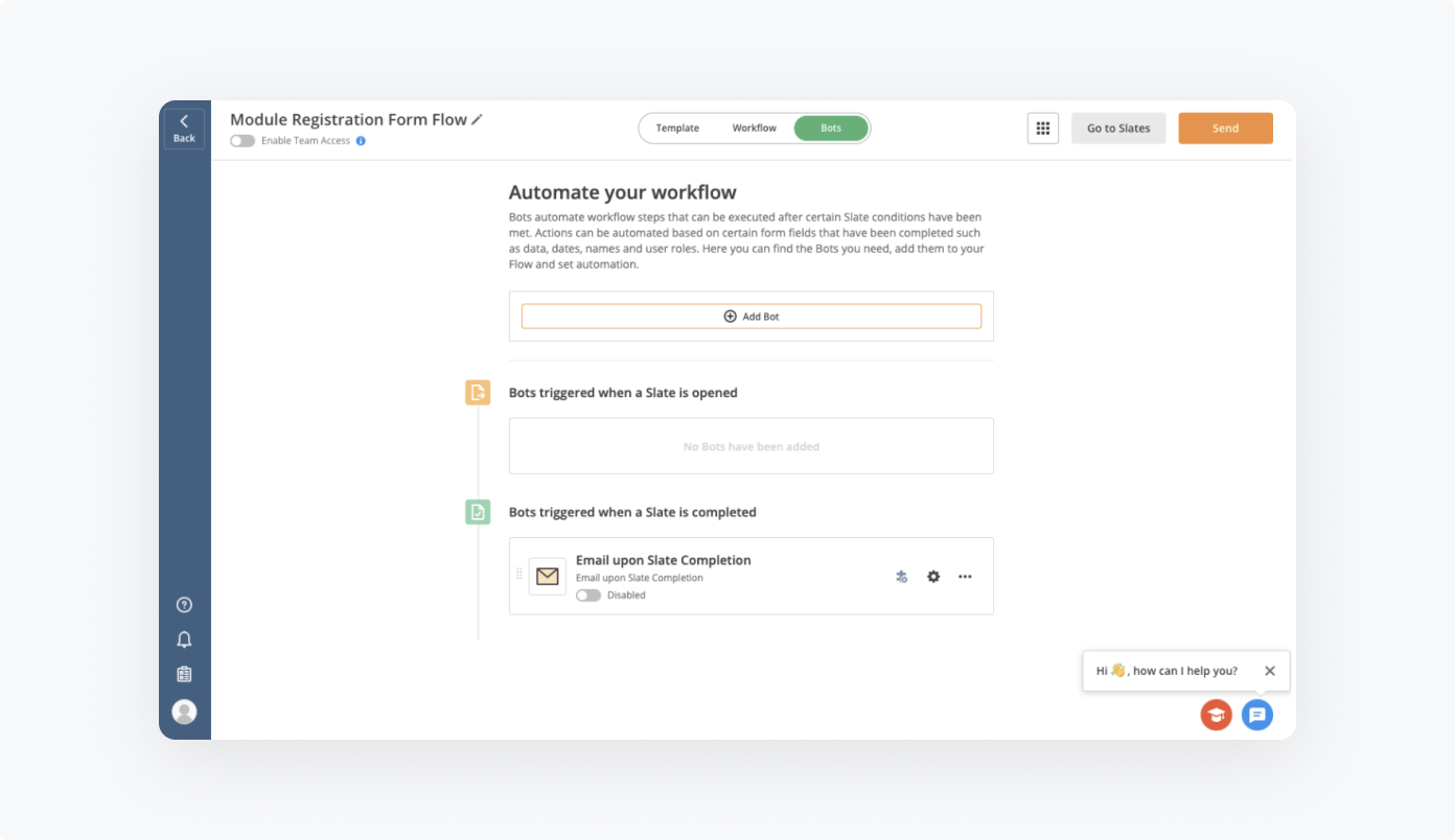How to add Bots to Module Registration Form Flow by airSlate